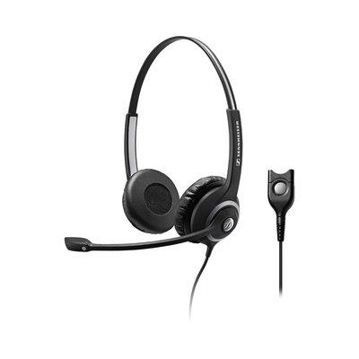 Set van twee Sennheiser SC 260 Headsets met training kabel voor meeluisteren
